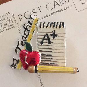 Jewelry - #1 Teacher Pin